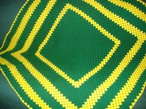 Green and Gold Green Bay Packer Blanket