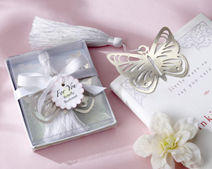 Butterfly Bookmark with White Tassel