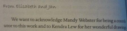 Mandy Webster - Rocks to Riches acknowledgement