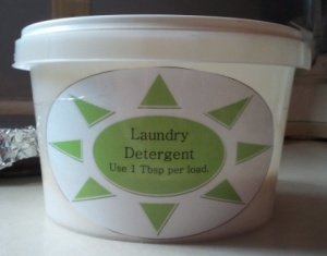 DIY Homemade Powdered Laundry Detergent Label