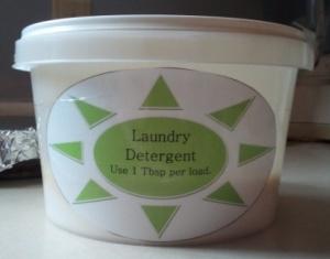 DIY Homemade Powdered Laundry Detergent Label
