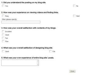 Blog survey poll