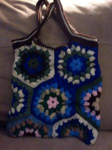 My latest DIY Pinterest project: Crocheted Handbag by Mandy Webster