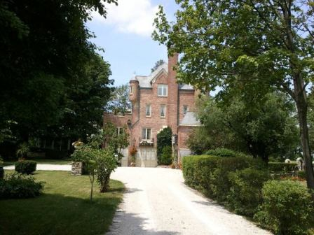 Castle house on Grand View Drive in Peoria Heights, Illinois