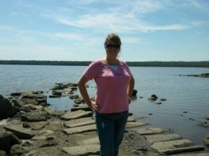 Mandy Webster at Marshall State Fish and Wildlife Refuge near Lacon on the Illinois River
