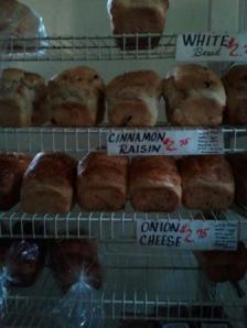 Amish-made bread at the Pleasant View Bakery near Dalton Wisconsin