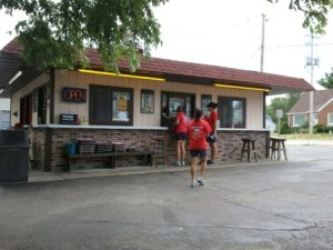 Mullin's Drive In restaurant, Fox Lake, Wisconsin