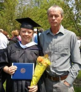 a graduate and her dad