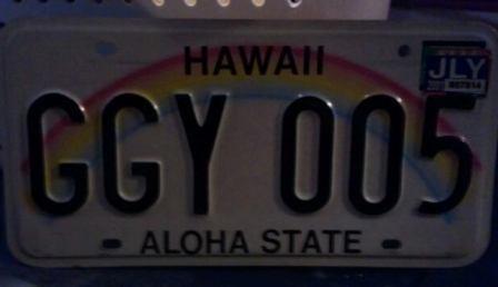 Hawaii license plates