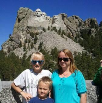 Here I am with my boys in front of Mount Rushmore.