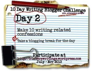 10 day writing blog challenge, day 2