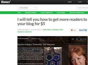 I will tell you how to drive readers to your blog for just $5.