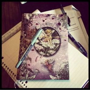 The writing life - a stack of notebooks