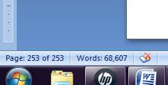word count work in progress