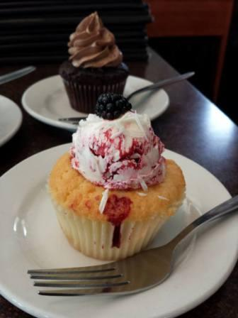 Blackberry Cupcake from Daisys Cafe and Cupcakery in Madison WI