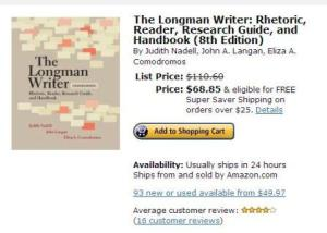 The Longman Writer: Rhetoric, Reader, Research Guide, and Handbook (8th Edition)
