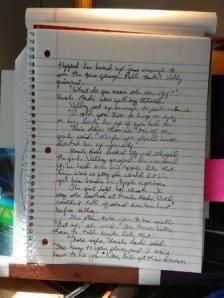 handwritten manuscript