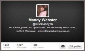 Mandy Webster Twitter @missmandy76