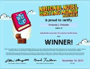 nanowrimo completion certificate