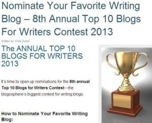 writing blog award