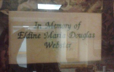 Grandma's plaque at the hospital