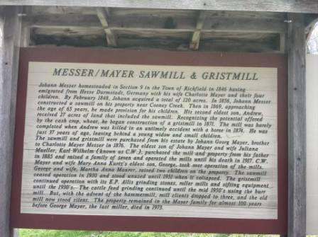 Historical Marker at Richfield Historical Park in Richfield, WI.