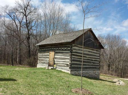 original homestead cabins located at the Richfield Historic Park.