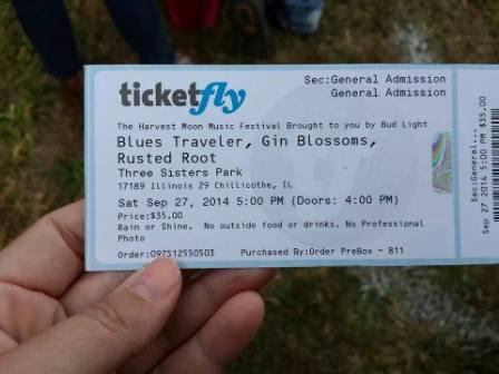 Blues Traveler and Gin Blossoms at Three Sisters Park in Chillicothe Illinois