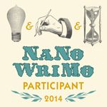 Get your NaNoWriMo Participant web graphics on the office website: http://nanowrimo.org/web-graphics.