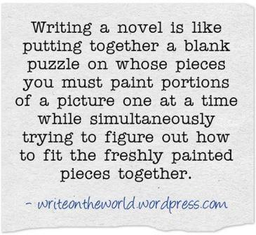 novel writing quote from quozio.com