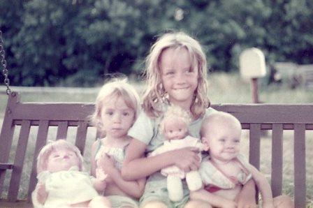 This is my sisters and me. I'm the oldest.
