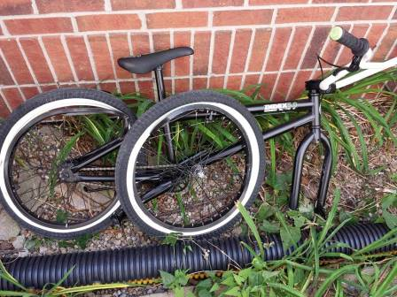 My son's bike after the accident.