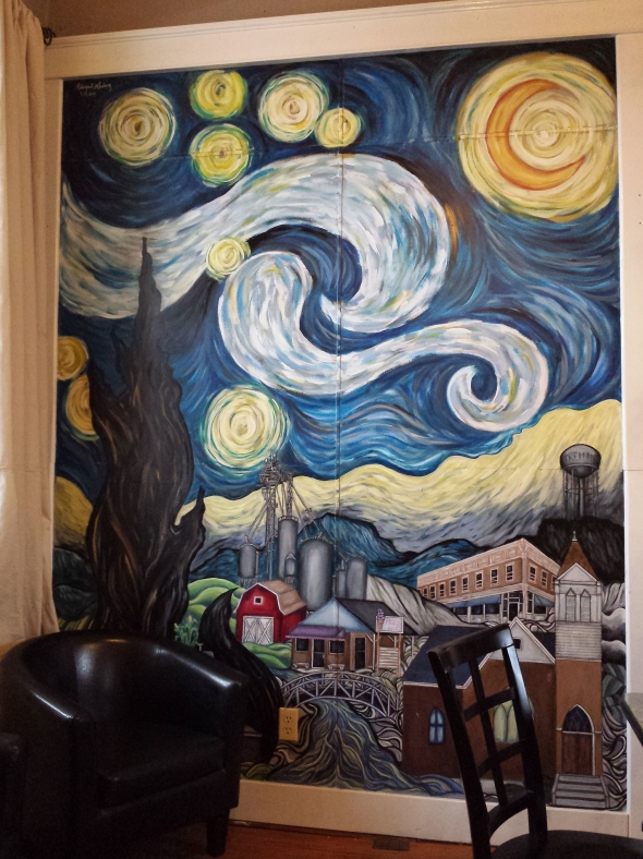 a corn country rendition of van Gogh's Starry Night.