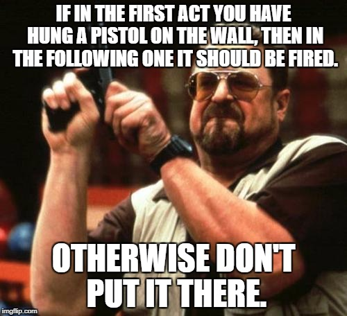 Chekhov's Gun meme
