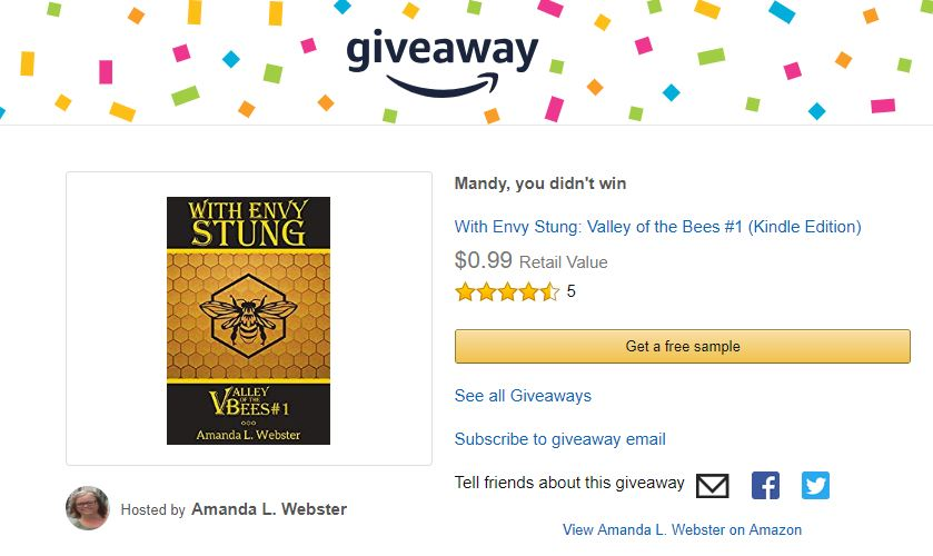 amazon book giveaway