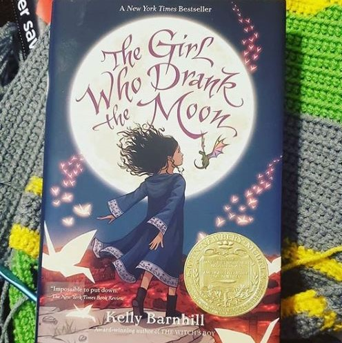 The cover of The Girl Who Drank the Moon by Kelly Barnhill